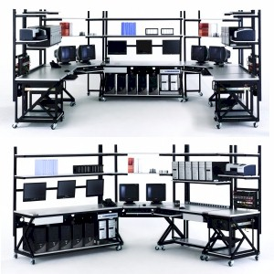 Lan Stations Work Benches Modular Systems For